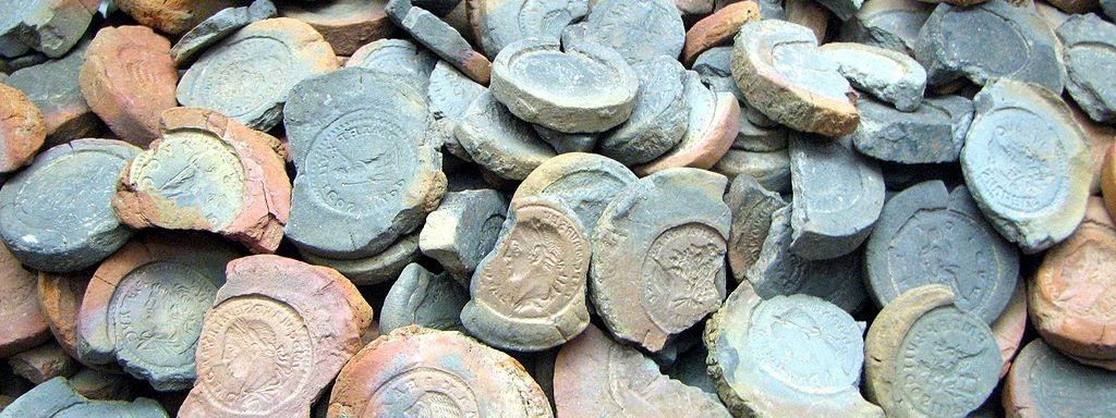 Gjutformar för falska mynt